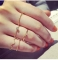 Korean version of the new diamond wave 5-piece ring ring index finger joint Jewellery gold 5-piece