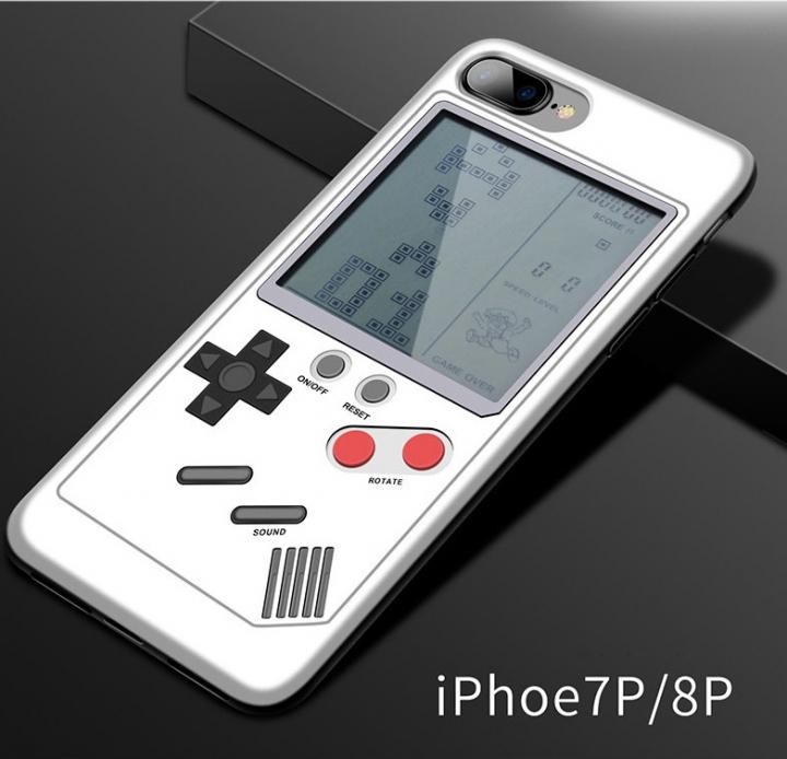 5XIAOHUO Retro Tetris game console + phone case 2 in 1 for iphone 6/6plus/7/8plus 5 games white iphone 6 6s case
