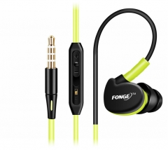 5XIAOHUO sports headphones running earphones Ear-hook headset microphones for iphone samsung Infinix green