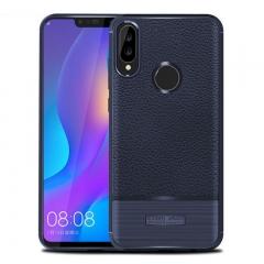 5XIAOHUO huawei nova 3i case cover Litchi pattern phone case shockproof for huawei case blue huawei nova 3i case