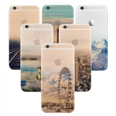 5XIAOHUO for iphone 5/6/6s/7/7plus City landscape pattern phone case #1 iphone 6 6s case