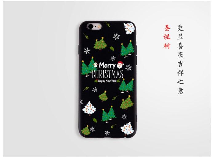 b0206ddc7d37e8 New cartoon Santa Claus for iPhone6s phone case 7plus Christmas tree black  soft case Christmas tree iphone 7 8plus case  Product No  2065460. Item  specifics ...