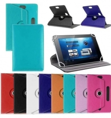 Faux Leather Tablet PC Case Cover 360 Degree Rotating Stand Universal Holder pink 7 inch