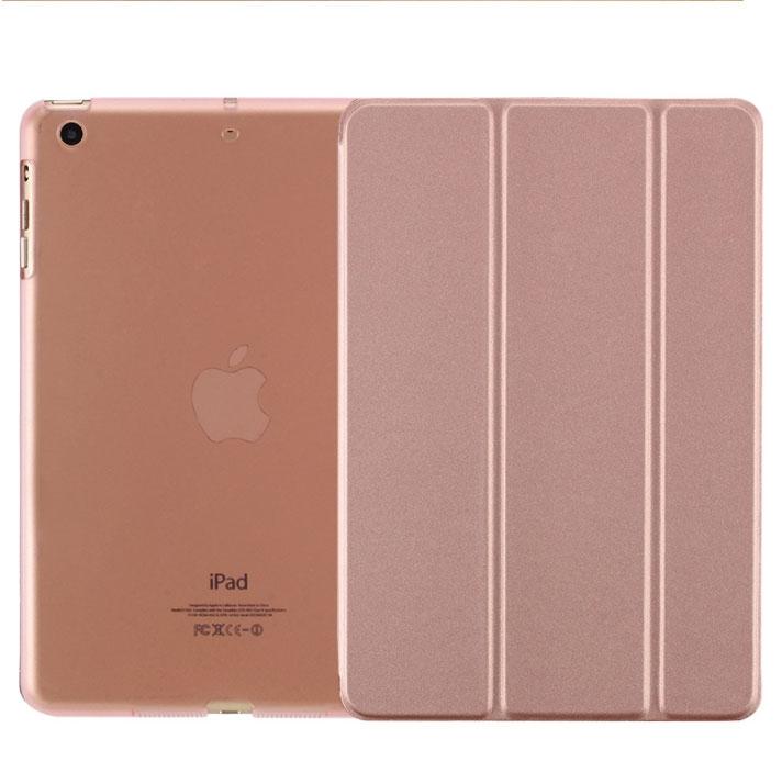 New ipad protective shell 2018 tablet holster ipad567 30 fold sleep holster slim pink ipad mini 1/2/3