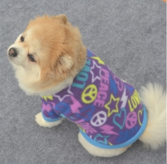 Pet clothes puppy spring and autumn warm fleece sweater color beautiful fabric soft Orange XS