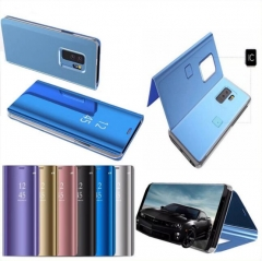 5XIAOHUO Samsung S8 mirror leather case Samsung S9 Note9 S9plus plating smart dorm  phone case black samsung s8