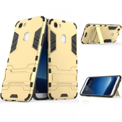 5XIAOHUO OPPO F5 two-in-one bracket iron man armor phone case resistant TPU protective cover gold iphone 6 6s case