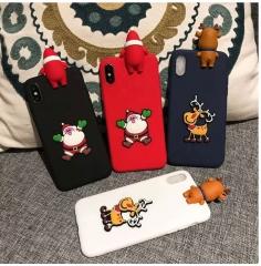 5XIAOHUO Huawei p20 Christmas doll phone case mate10 all-inclusive Y9 2018 matte tpu soft case #1 huawei mate 9