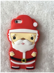 5XIAOHUO Christmas Santa Claus iphone 5 6 case Cover Elk Silicone Soft Shell Ice Cream case #1 iphone 6 6s case