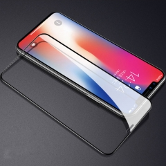 5XIAOHUO for iphone x 6D tempered film iphone 6 7 Screen Protectors embossed curved phone protective black iphone 6