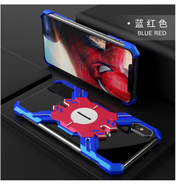 5XIAOHUO Creative iphoneXR case League of Legends Anti-fall case iphone XS  Max Metal blue red iphone 6 6s case