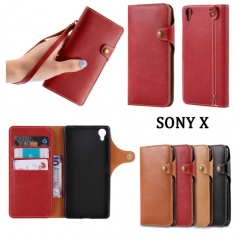 5XIAOHUO Sony Xperia X mobile phone case button mobile phone case sony xp open phone case black sony Xperia X