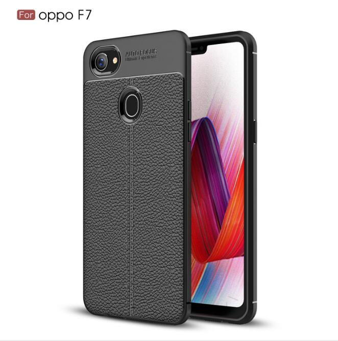 5XIAOHUO Auto Focus Oppo F7 F9 Shock Proof Carbon Fiber Rugged Armor Soft Back Case black OPPO F7