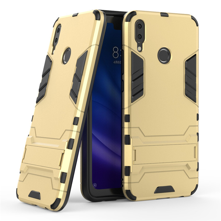 5XIAOHUO for huawei Y9 2019 Case Shockproof Robot Armor Hybrid Silicone Rubber Hard Back Phone Cover gold huawei Y9 2019