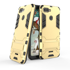 5XIAOHUO for redmi 6 6Pro 2 in1 bracket iron man mobile phone case creative armor anti-fall gold redmi 6