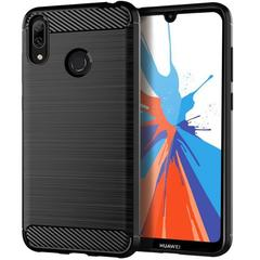 5XIAOHUO for huawei Y7 prime 2019 case Carbon Fiber Slim Brushed Line Medium Hard TPU Casing Cover black HUAWEI Y7 prime 2019
