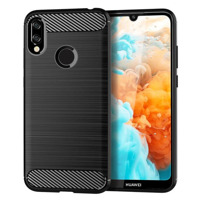 5XIAOHUO New Arrival for huawei Y6 Prime 2019 TPU case Brushed drop phone case black huawei Y6 prime 2019