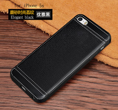 5XIAOHUO iPhone 5S phone case silicone skin anti-fall protection cover black iphone 5/5s case