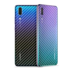 (buy 1 get 1) For huawei /P30lite Rear Screen Protector 3D Carbon Fiber Back Cover Protective Film transparent huawei P30Lite