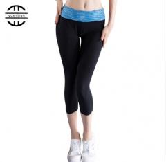 Sexy yoga pants leggings compression pants sports ladies fitness pants polyester ladies warm5080 black s