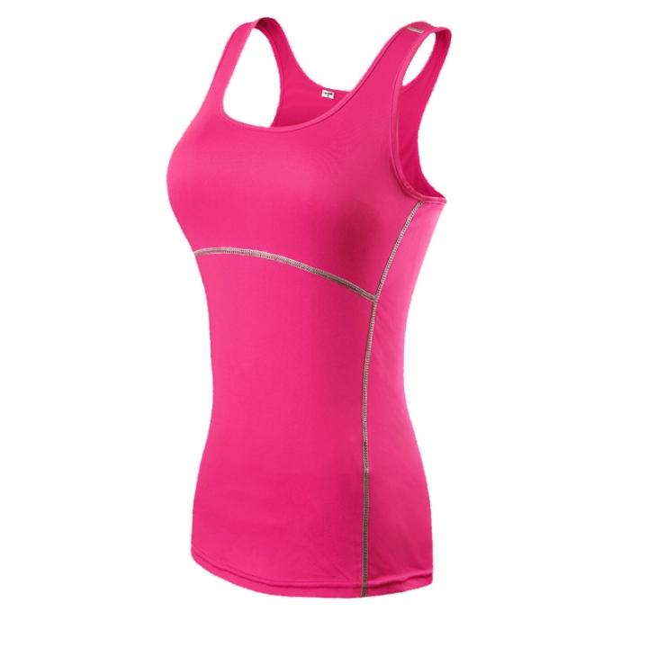 0506266126 Compression Tights Gym Set Sport Yoga Bodybuilding Running Vest Woman2001  pink XXL