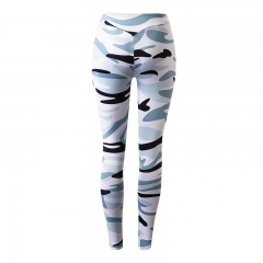 Custom logo gym yoga pants sports sexy fitness tights women compression running pants5012 white s