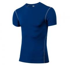 Short Sleeve T-Shirts Running Shirt Fitness Tennis Soccer Jersey Gym Demix Sportswear1003 blue S Spandex+Polyester