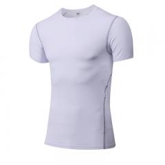Short Sleeve T-Shirts Running Shirt Fitness Tennis Soccer Jersey Gym Demix Sportswear1003 white XL Spandex+Polyester