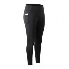 2018 new sexy girl pocket gym pants yoga pants compression pants fitness tights2088 black s