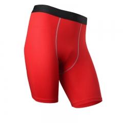 Men Soccer Running Compression Jersey Camiseta De Baloncesto Crossfit Yoga Running Shorts1004 red S