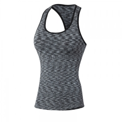 Tights Outdoor Breathable Elastic Gym Fitness Vest Women Seamless Sports Vest Women5001 black l