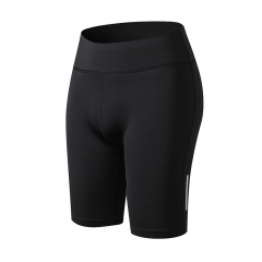 New pocket sexy fitness shorts ladies fitness sportswear compression shorts running yoga pants2045 black s
