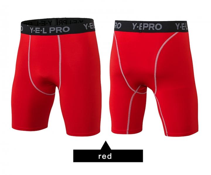 Sport Leggings Crossfit Men's Shorts Soccer Undercover Jogging Compression Tights Running Shorts1034 red s