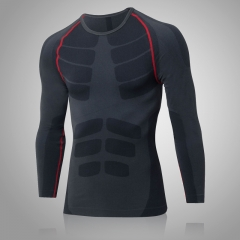 Man'S T-Shirt Tight Sport Suit Fitness Jersey Gym Costume Running Blouse Demix Sportswear6019 red l spandex+polyester