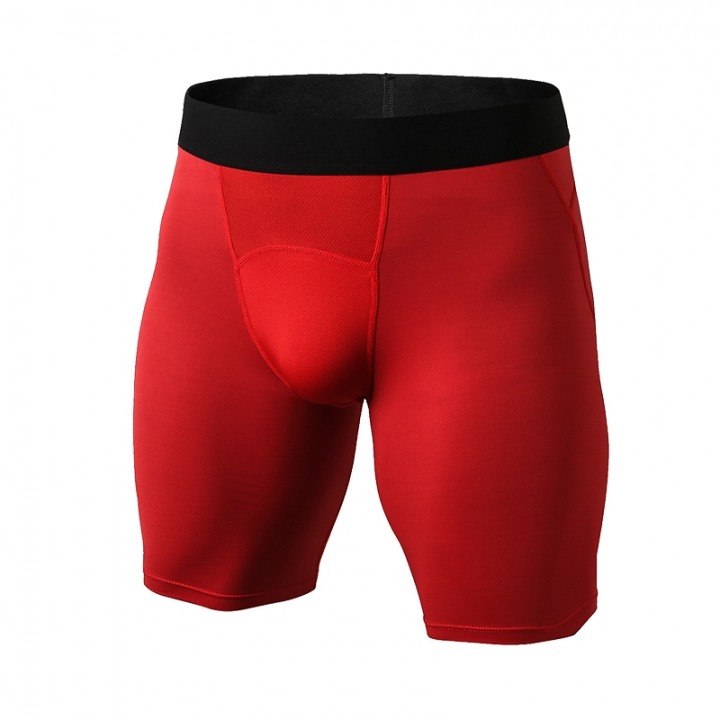 New Quick-drying Fitness Tights CrossFit Shorts Compressed Jogging Men Running Shorts1044 red s