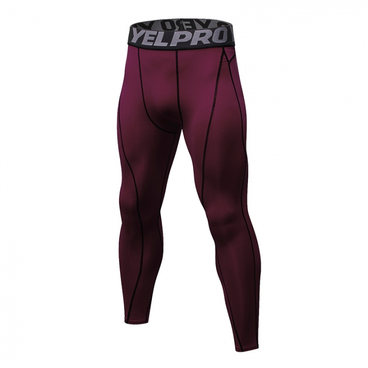 New gym compression fitness leggings sweatpants men's pants sports running tights1060 red s