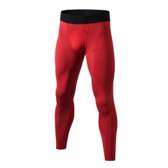 New fitness pants men's sports GYM pants tight pants pants compression fitness pants1040 red s