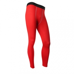 Signs Customized Quick Dry Compression Pants Polyester Tights Yoga Pants Men's Fitness Tights1020 red s
