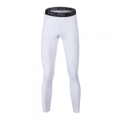 Compressed Trousers Gym Men's Running Tights Sports Stockings Dry Fit Compression Running Pants6030 white m