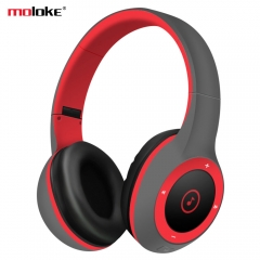 Overlong play time Bluetooth 3D stereo headphones wireless headset TF card over the Ear with MIC red