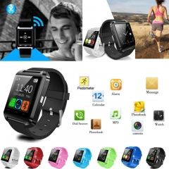 Smartwatch U8 Bluetooth Watch Passometer Fashion Touch Screen Answer and Dial the Phone  One Size black normal