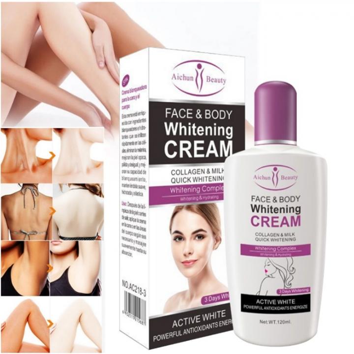 Beauty Face & Body Whitening Cream For Dark Skin Bleaching Lotion 120ML as show