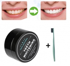 Yellow Teeth Nemesis Teeth Whitening Powder Natural Organic Activated Toothpaste With Toothbrush 1*Toothpaste&1*Toothbrush