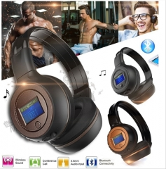 Stereo Bluetooth Wireless Headset/Headphones With Call Mic/Microphone brown