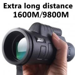 Extra Long Distance 1600M/9800M Monocular Low Light Night Vision High - Angle Telescope Monocular balck one size