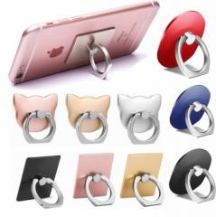 Universal Mobile Phone Support Frame Ring Support Lazy Bracket Blue Metal Bracelet Buckle Random one size