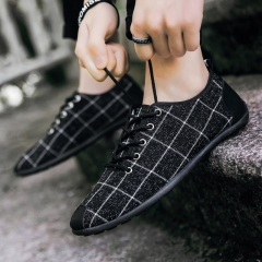 2018 New Fashion Men's Shoes, Casual Wear Canvas Shoes, Men's Shoes, Board Shoes, Breathable Shoes black 39
