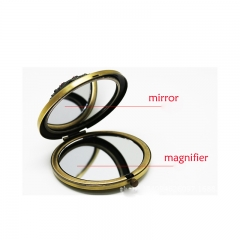 Women's Luxurious Round Makeup Mirror, Small Makeup Mirror/Folding Enlargement Mirror