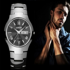 Men's Quartz Fashion Watch is simple, luxurious, classic design will be perfect for all occasions Diamond black plate one size