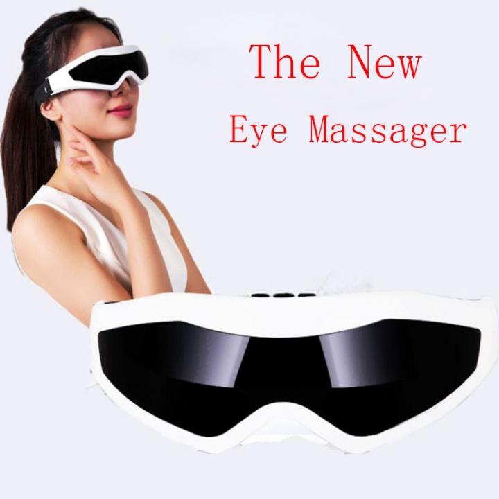 Multiple Vibrating Eye Massager, Eye Care Relaxation Massager, Eye Care Relieves Stress Black+white
